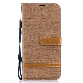 Denim Book Case Samsung Galaxy A50 / A30s Hoesje - Khaki