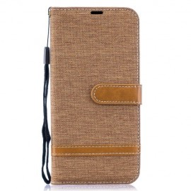 Denim Book Case Samsung Galaxy A50 Hoesje - Khaki