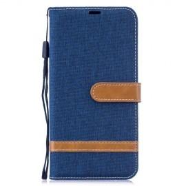Denim Book Case Huawei Y7 (2019) Hoesje - Blauw