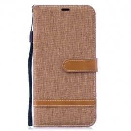 Denim Book Case Huawei Y7 (2019) Hoesje - Khaki