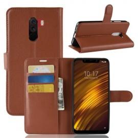 Book Case Xiaomi Pocophone F1 Hoesje - Bruin