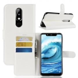 Book Case Nokia 5.1 Plus Hoesje - Wit