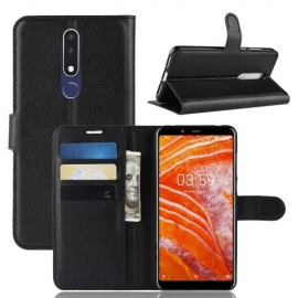 Book Case Nokia 3.1 Plus Hoesje - Zwart