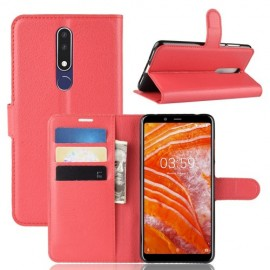 Book Case Nokia 3.1 Plus Hoesje - Rood
