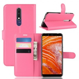 Book Case Nokia 3.1 Plus Hoesje - Roze