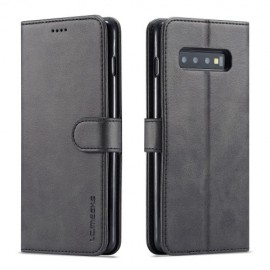 Luxe Book Case Samsung Galaxy S10 Hoesje - Zwart