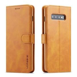 Luxe Book Case Samsung Galaxy S10 Hoesje - Bruin