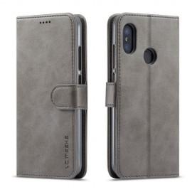 Luxe Book Case Xiaomi Mi A2 Lite Hoesje - Grijs