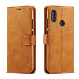 Luxe Book Case Xiaomi Mi A2 Lite Hoesje - Bruin