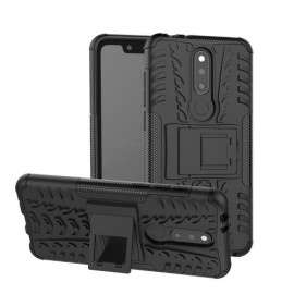 Rugged Kickstand Nokia 5.1 Plus Hoesje - Zwart