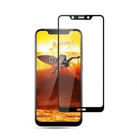 Full-Cover Tempered Glass Nokia 8.1 - Zwart
