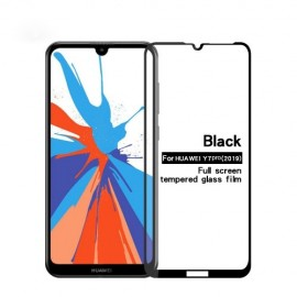 Full-Cover Tempered Glass Huawei Y7 (2019) - Zwart