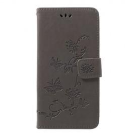 Bloemen Book Case Samsung Galaxy A50 Hoesje - Grijs