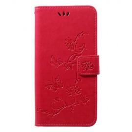 Bloemen Book Case Samsung Galaxy A50 Hoesje - Roze