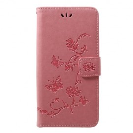 Bloemen Book Case Samsung Galaxy A50 Hoesje - Pink