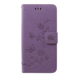 Bloemen Book Case Samsung Galaxy A50 Hoesje - Paars