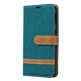 Denim Book Case Samsung Galaxy A40 Hoesje - Groen