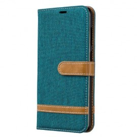 Denim Book Case Samsung Galaxy A70 Hoesje - Groen