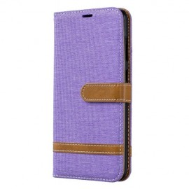 Denim Book Case Samsung Galaxy A70 Hoesje - Paars