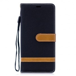 Denim Book Case Huawei P30 Pro Hoesje - Zwart
