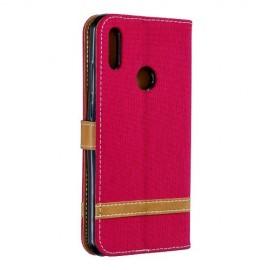 Denim Book Case Huawei Y6 (2019) Hoesje - Rood