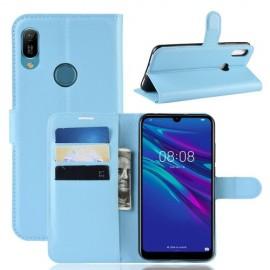 Book Case Huawei Y6 (2019) Hoesje - Lichtblauw