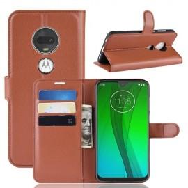Book Case Motorola Moto G7 / G7 Plus Hoesje - Bruin