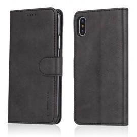 Luxe Book Case iPhone X / Xs Hoesje - Zwart