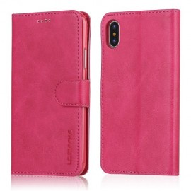 Luxe Book Case iPhone X / Xs Hoesje - Roze