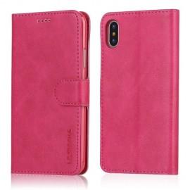 Luxe Book Case iPhone X / Xs Hoesje - Roze