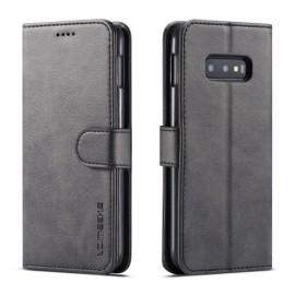 Luxe Book Case Samsung Galaxy S10e Hoesje - Zwart