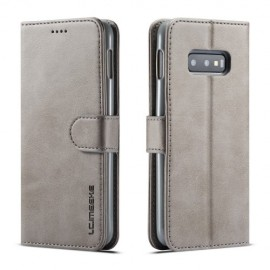 Luxe Book Case Samsung Galaxy S10e Hoesje - Grijs