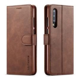 Luxe Book Case Huawei P30 Hoesje - Donkerbruin