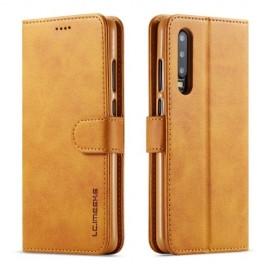 Luxe Book Case Huawei P30 Hoesje - Bruin