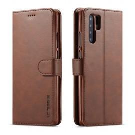 Luxe Book Case Huawei P30 Pro Hoesje - Donkerbruin