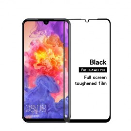 Full-Cover Tempered Glass Huawei P30 - Zwart