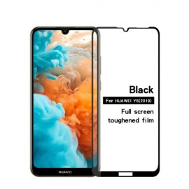 Full-Cover Tempered Glass Huawei Y6 (2019) - Zwart