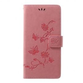 Bloemen Book Case Samsung Galaxy A70 Hoesje - Pink