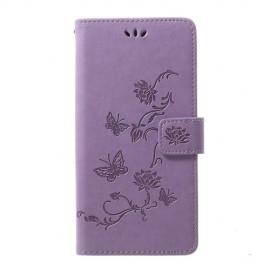 Bloemen Book Case Samsung Galaxy A70 Hoesje - Paars