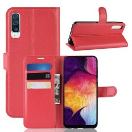 Book Case Samsung Galaxy A50 Hoesje - Rood