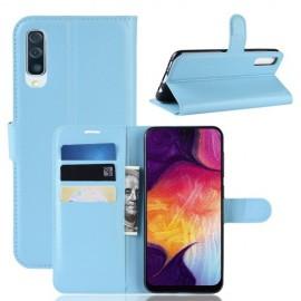 Book Case Samsung Galaxy A50 Hoesje - Lichtblauw