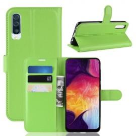 Book Case Samsung Galaxy A50 / A30s Hoesje - Groen
