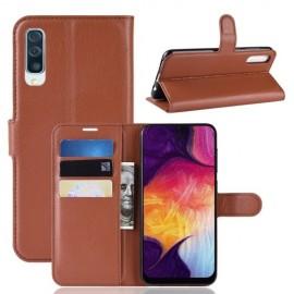 Book Case Samsung Galaxy A50 / A30s Hoesje - Bruin