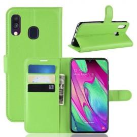 Book Case Samsung Galaxy A40 Hoesje - Groen