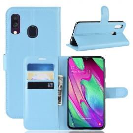 Book Case Samsung Galaxy A40 Hoesje - Lichtblauw