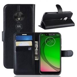 Book Case Motorola Moto G7 Play Hoesje - Zwart