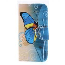 Book Case Samsung Galaxy A50 Hoesje - Blauwe Vlinder