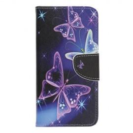 Book Case Samsung Galaxy A70 Hoesje - Vlinder