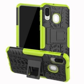 Rugged Kickstand Samsung Galaxy A40 Hoesje - Groen