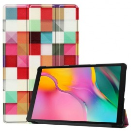 Smart Book Case Samsung Galaxy Tab A 10.1 (2019) Hoesje - Colour Squares